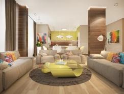 明亮的色彩搭配:时尚家居装修欣赏