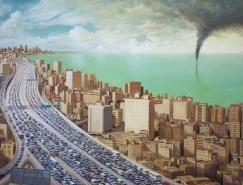 堆叠和密集的风格:Michael Kerbow独特画作欣赏