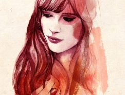 Sarah Bochaton水彩肖像插画欣赏