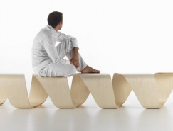 DNA螺旋概念长椅澳门金沙网址
