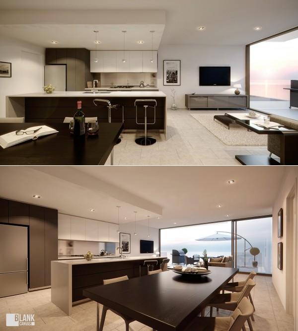20个开放式布局的客厅装修设计