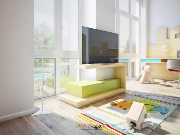 丰富的暖色调和儿童玩乐空间:乌克兰独特优雅的现代住宅
