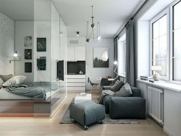 3个35平米精致小户型公寓设计
