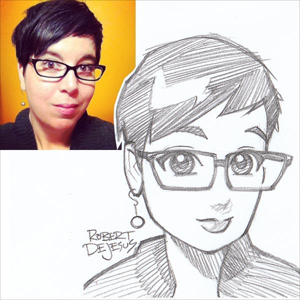 插画师Robert DeJesus: 将真人绘制成Q版漫画肖像