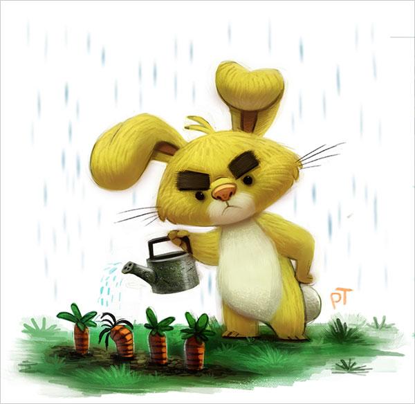 thibodeau可爱的卡通动物角色设计(6)