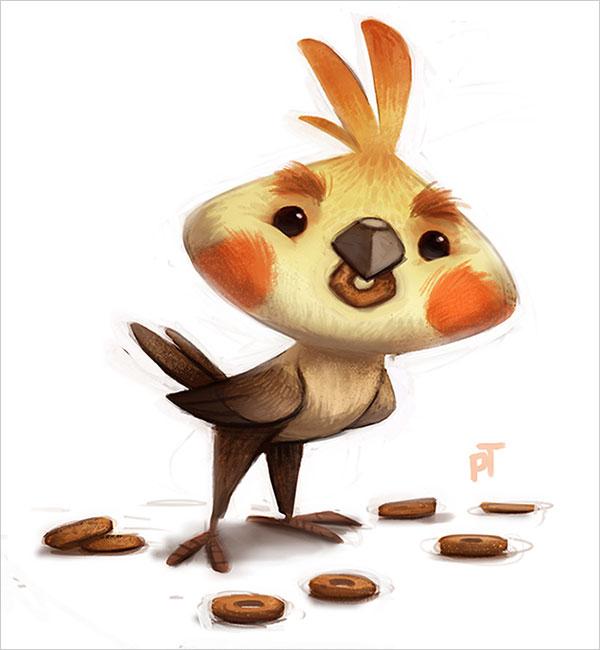 thibodeau可爱的卡通动物角色设计(2)