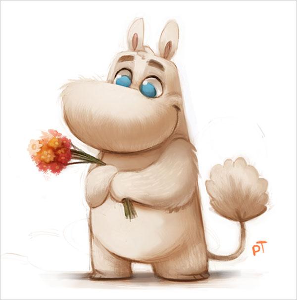 thibodeau可爱的卡通动物角色设计(5)