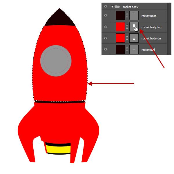 红色画笔矢量图