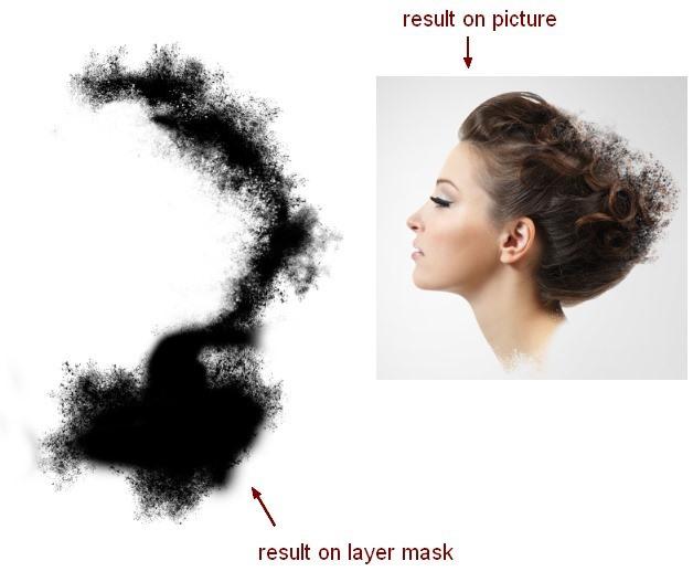 PS合成碎片飞散的黑白抽象美女头像