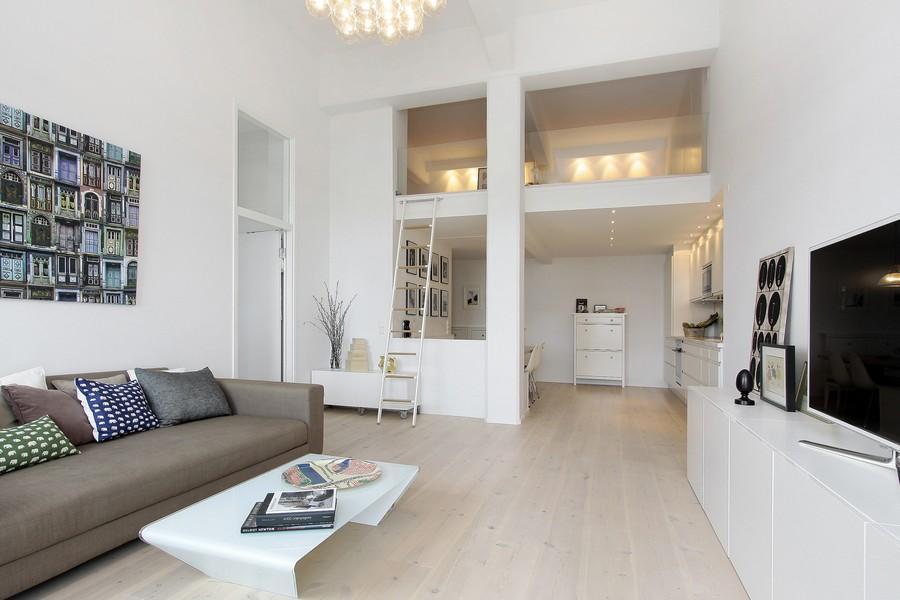斯德哥尔摩白色Loft公寓设计 - 设计之家