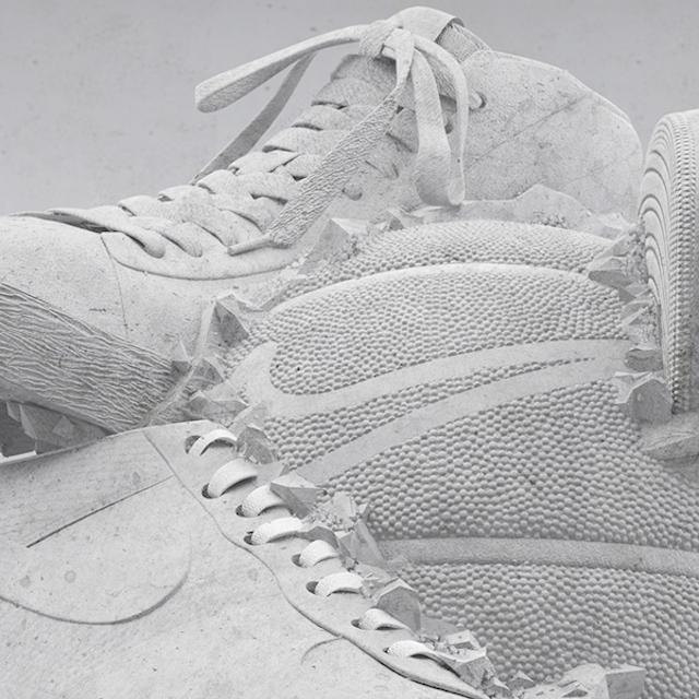 潮鞋篮球大冲撞:Nike SNEAKERBALL概念雕塑