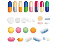 膠囊和藥片矢量素材
