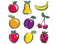 各種手繪水果矢量素材(1)
