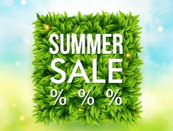 夏季促銷折扣海報矢量素材