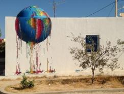 法国艺术家Brusk创意街头涂鸦作品