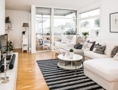 黑白配:瑞典简约舒适公寓欣赏