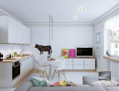 2个开放式空间的小户型公寓欣赏