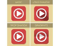 PS轻松制∏作四种扁平化风格图标