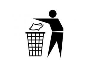 请勿乱扔垃圾图标矢量素材
