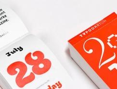 365种不同字体:Typodarium 2015创意日历