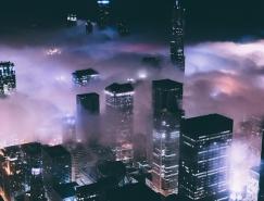 Michael Salisbury攝影作品:霧中芝加哥