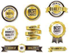 金色優質產品標簽徽章矢量素材