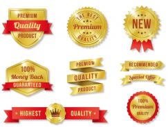 金色優質產品標簽徽章矢量素材(2)