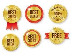 金色優質產品標簽徽章矢量素材(3)