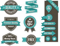 高品質標簽徽章和促銷元素矢量素材