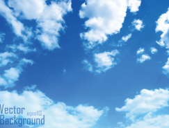 蓝天白云矢量素材