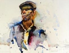 Charles Reid肖像水彩画作品