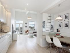 斯德哥尔摩白色Loft公寓设计