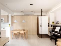 温馨柔和的小清新公寓设计欣赏