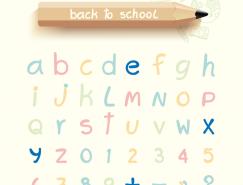 可愛字母設計矢量素材
