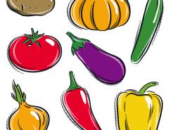 手繪蔬菜矢量素材(1)