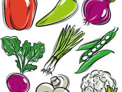 手繪蔬菜矢量素材(3)