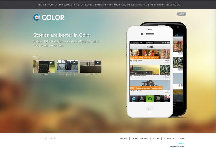 20个模糊背景图片的网页设计欣赏