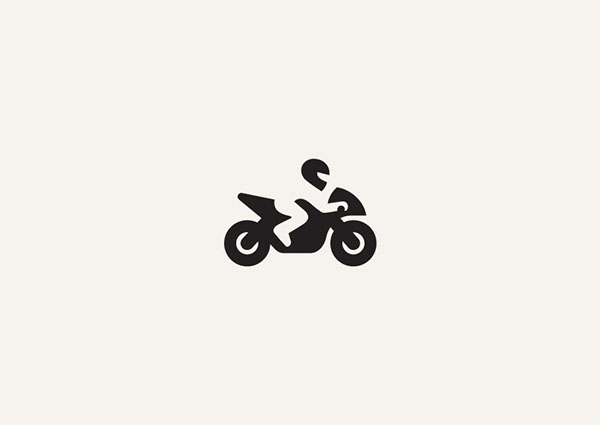 George Bokhua巧妙有趣的负空间logo标识设计
