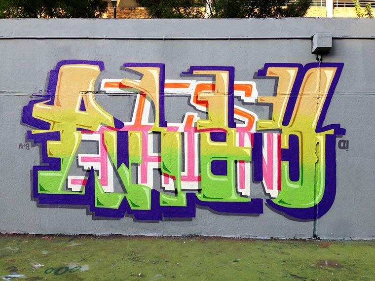Peter Preffington创意字体街头艺术作品