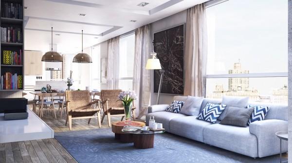 4个舒适简约的现代公寓设计