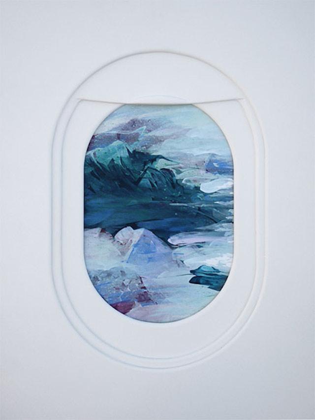 飞机窗外的风景:jim darling插画作品欣赏