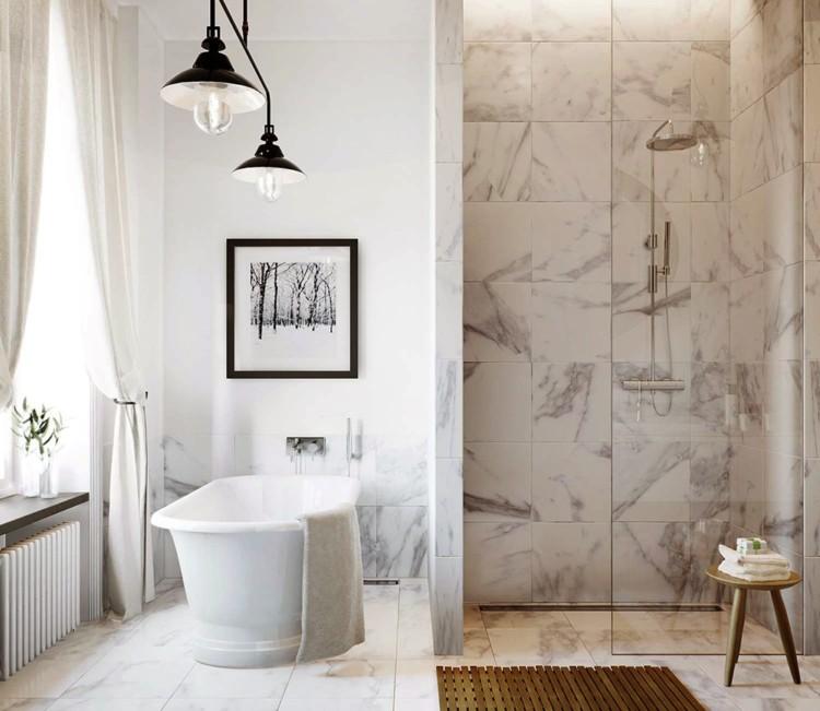 30款漂亮的大理石浴室设计欣赏