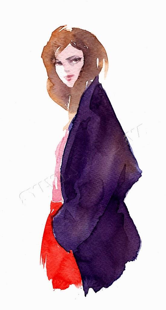Sylvia Baldeva水彩肖像插画欣赏