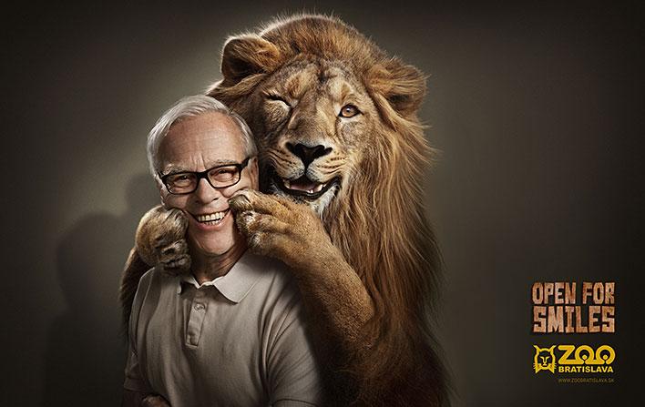开放的微笑:bratislava动物园创意广告欣赏