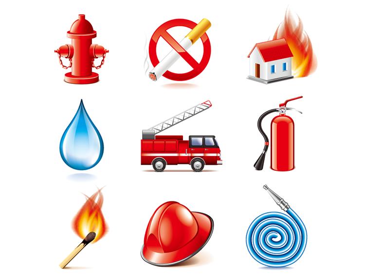 消防题材图标矢量素材