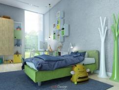 大量的存储空间:多彩儿童房设计欣赏