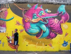 Georgi Dimitrov街头涂鸦艺术作品