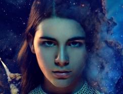 PS合成星空背景的科幻电影人物海报