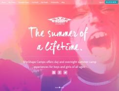 使用彩色滤镜效果的网页设计欣赏