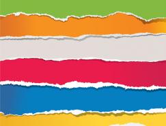 彩色創意撕紙效果矢量素材